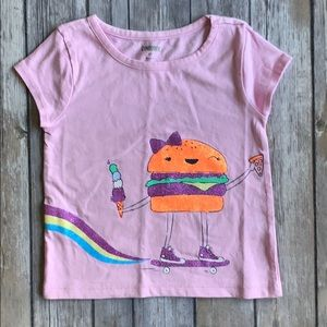 Gymboree Purple Graphic Tee size 2T